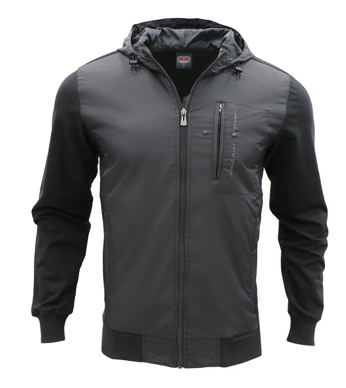 Aleklee men polyester long zipper jackets AL-7808