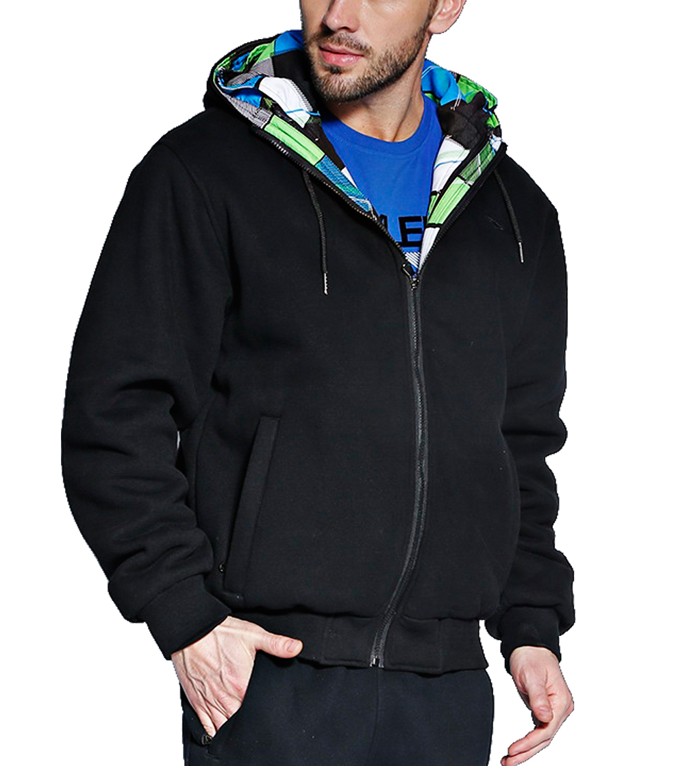 Aleklee Men's detachable cotton two set hoodies sweatshirts AK-4083