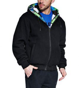 Aleklee Men's detachable cotton two set hoodies sweatshirts AK-4083