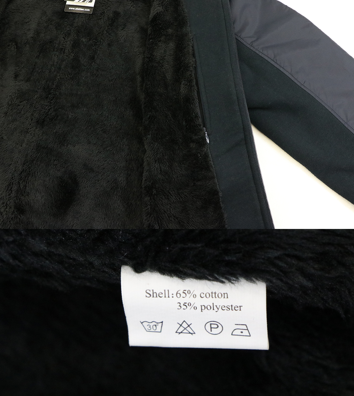Aleklee basic cotton zip up jackets AL-1844