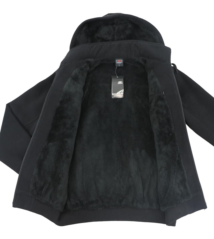 Aleklee black hoodie with chest pocket AL-1453