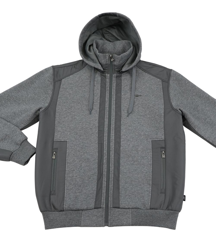 Aleklee patchworked grey jacket hoodie AL-1527