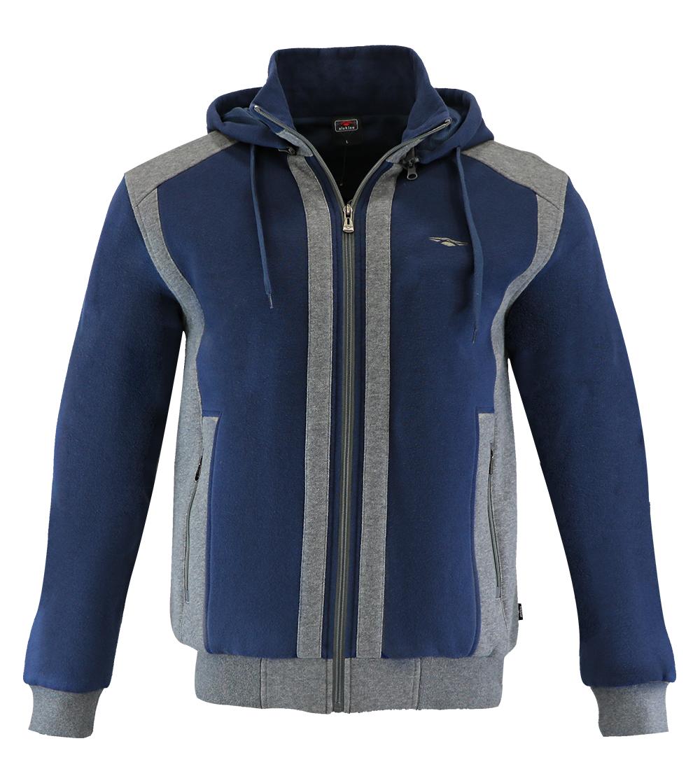 Aleklee two tone patchworked jacket hoodie AL-1528
