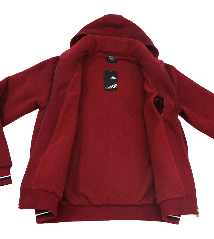 Aleklee casual full zip hoodie with logo embroidery AL-1534