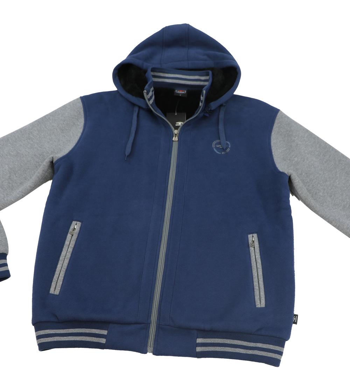 Aleklee colorblock sleeve thick zip hoodie AL-1535