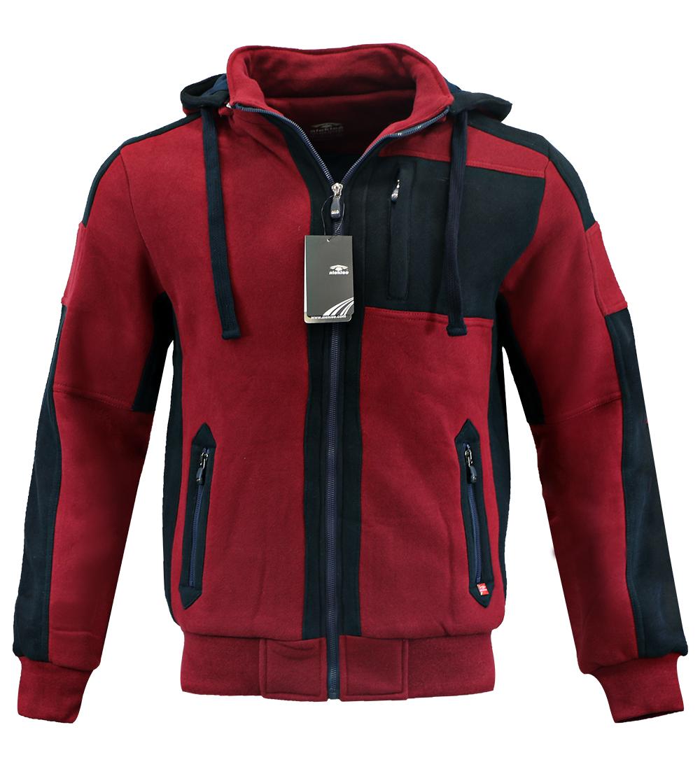 Aleklee men color block long zipper hoodies sweatshirts AK-4096