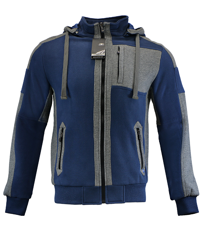 Aleklee men color block long zipper hoodies sweatshirts AK-4096