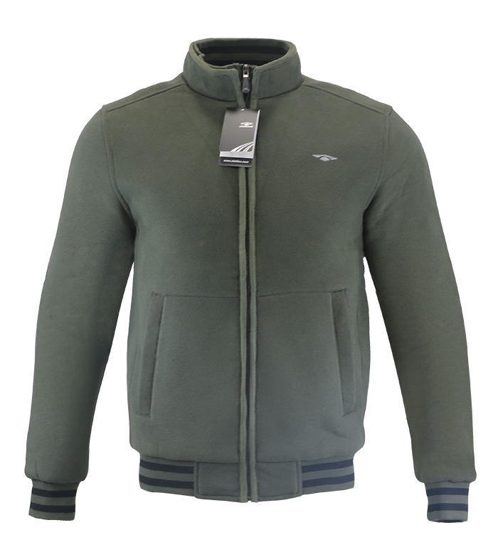 Aleklee men cotton polyester army Green zipper hoodies sweatshirts  AK-4104
