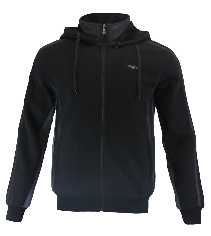 Aleklee black hooded jacket hoodie AL-1538