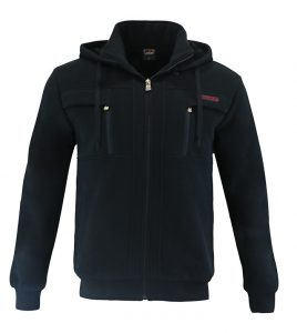 Aleklee zip chest pocket hoodie sweatshirt AL-1540