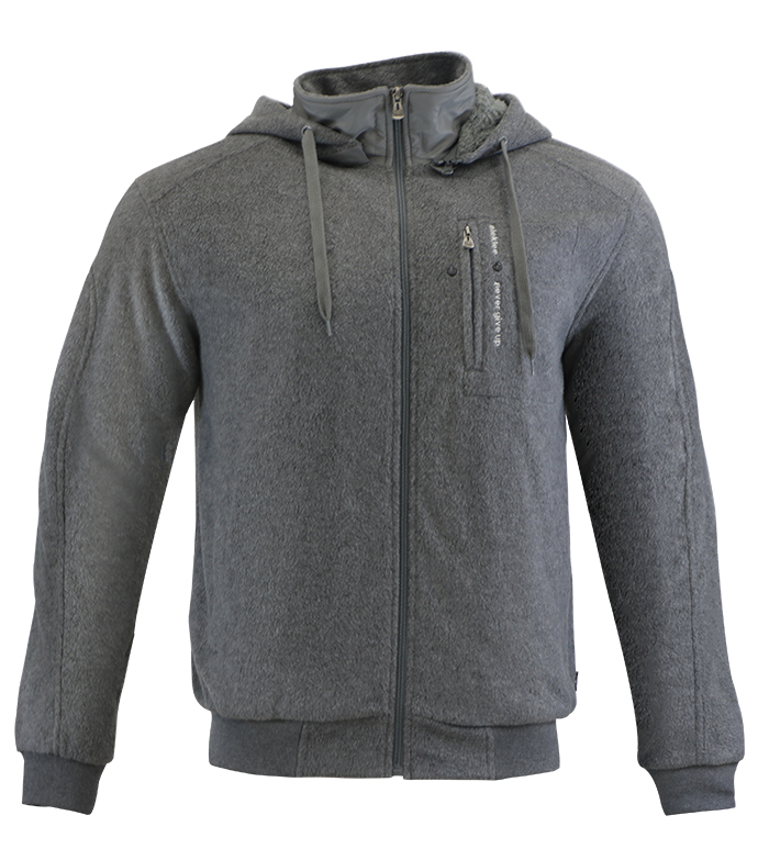 Aleklee full zip fluffy hoodie AL-1543