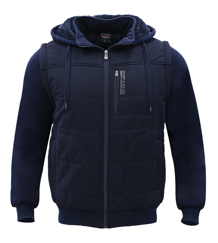 Aleklee plus size chest pocket fleece jacket AL-1856