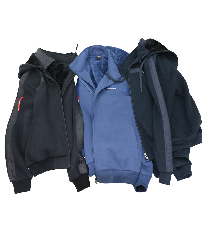 Aleklee tapped letter sleeve hoodie  AL-2064