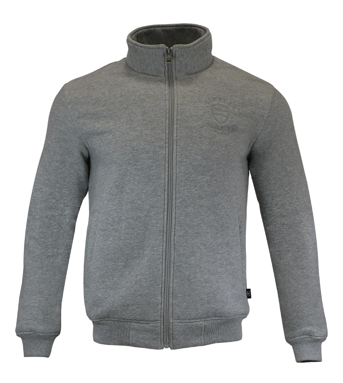 Aleklee embroideried logo gray hoodie AL-2073