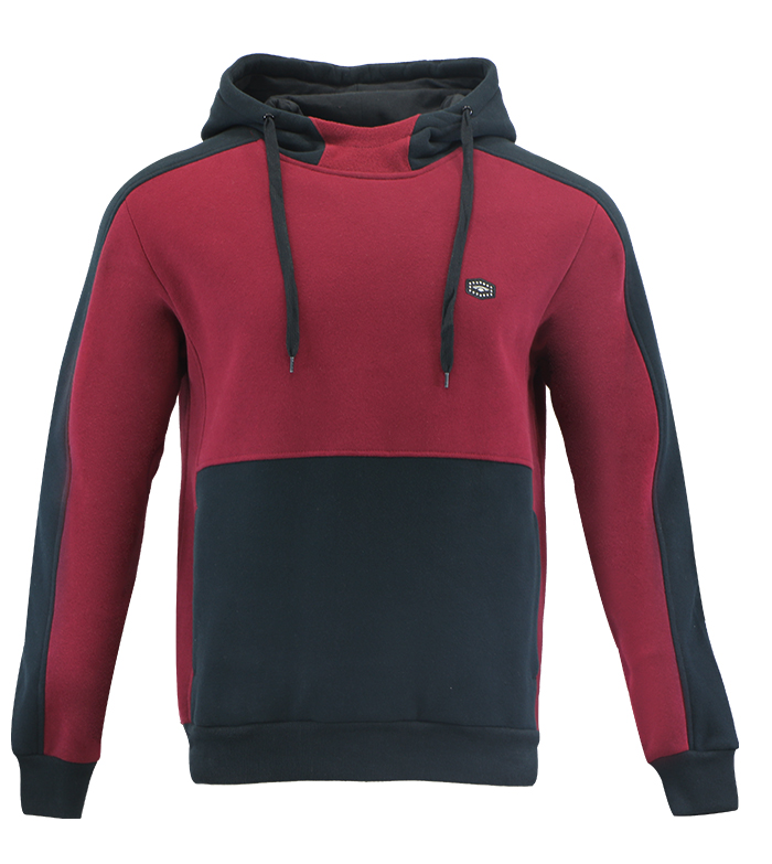 Aleklee red and black two tone hoodie AL-2135