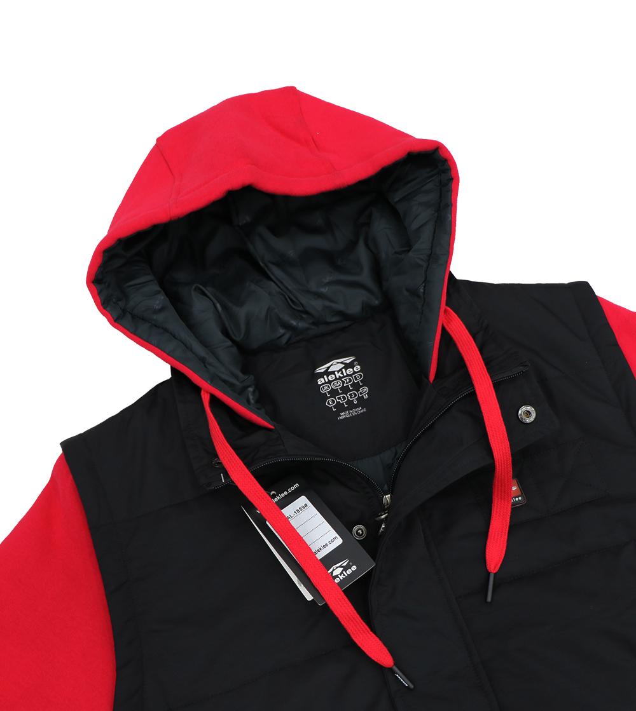 Aleklee color block patchwork hoodie AL-1859