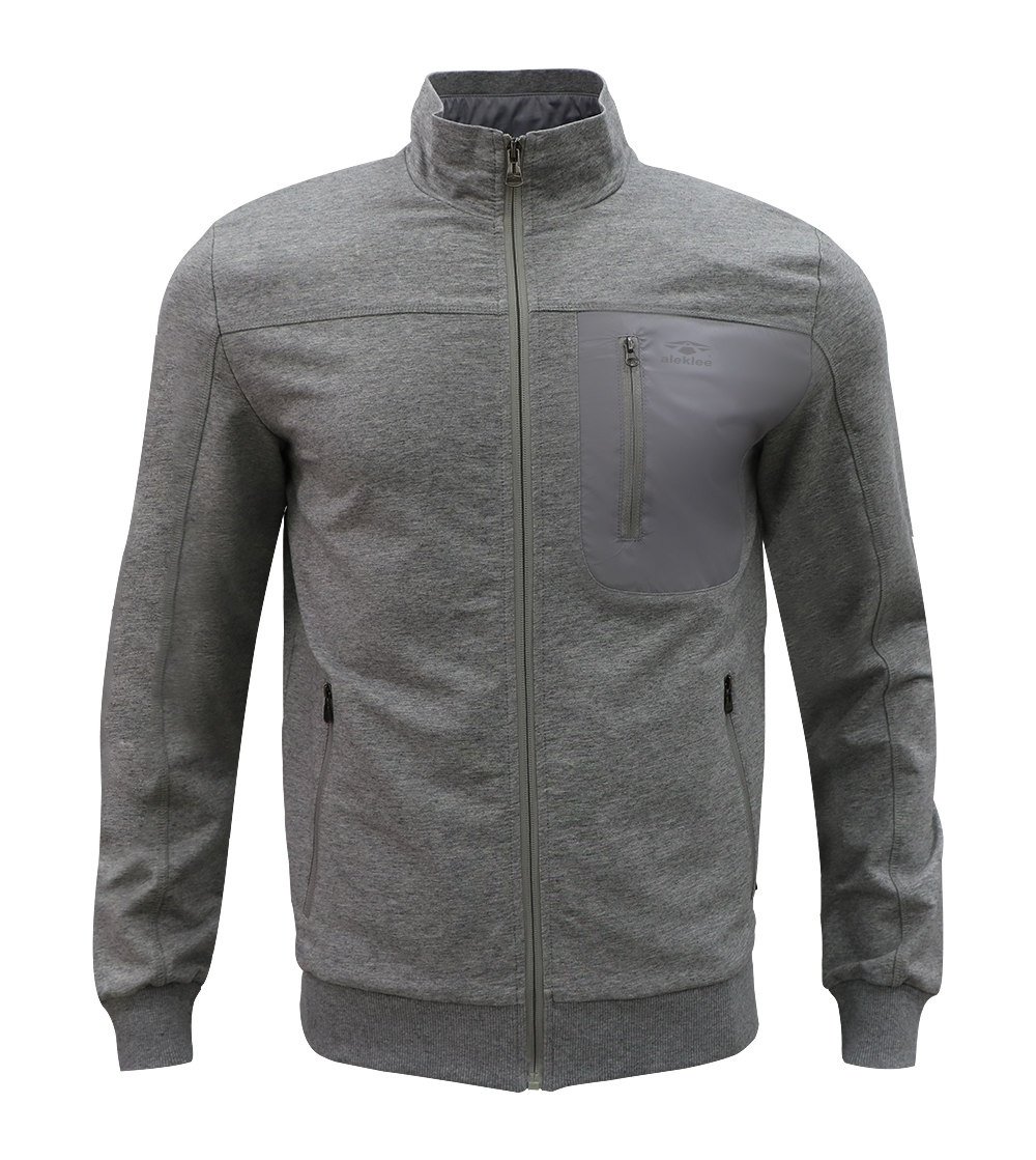 Aleklee zip chest pocket hoodie AL-1877