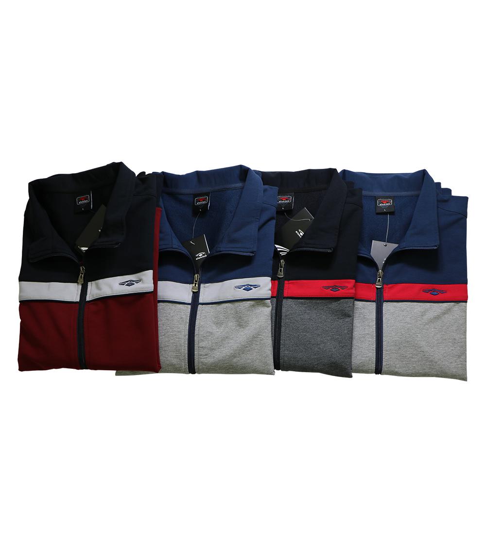 Aleklee tri panel zipper hoodie AL-1908