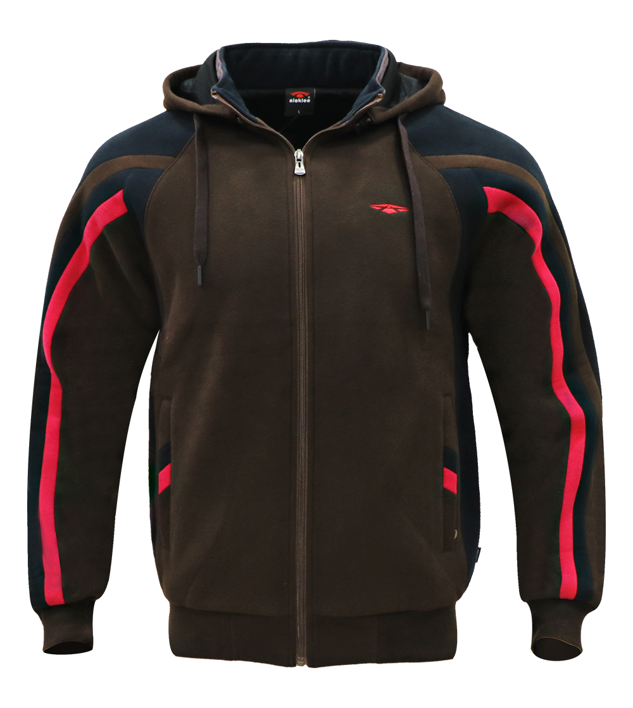 Aleklee stripe sleeve patchwork hoodie AL-1917