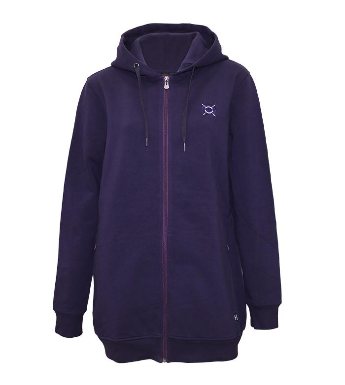 Aleklee long full zip hoodie AL-240220#