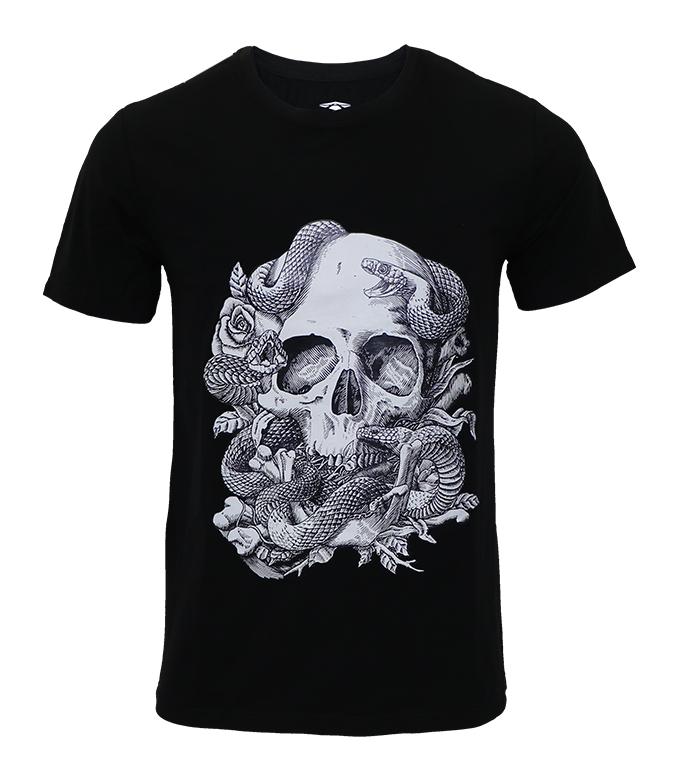 Aleklee skull printed t-shirt SS18-3#