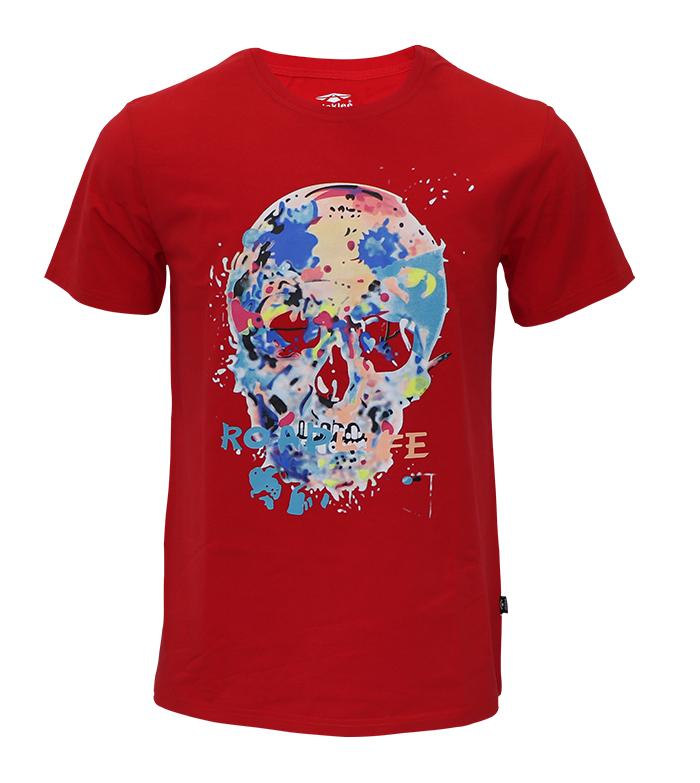 Aleklee multicolor skull printed t-shirt SS18-4#