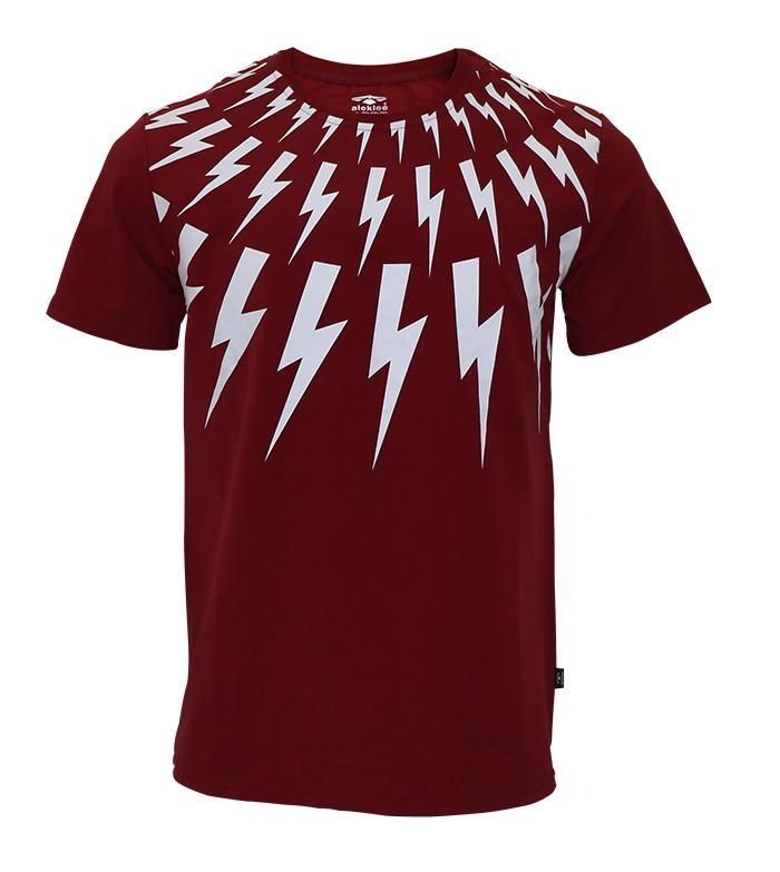 Aleklee pattern printed t-shirt SS18-8#