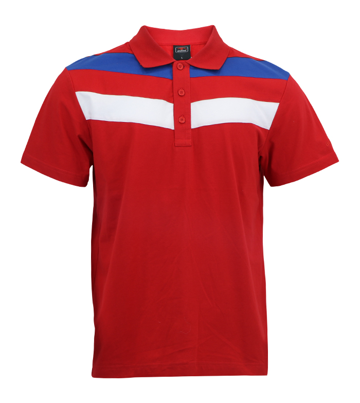 Aleklee block pannel polo t-shirt AL-5017#