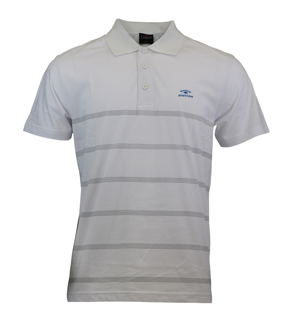 Aleklee narrow stripes polo t-shirt AL-5020#