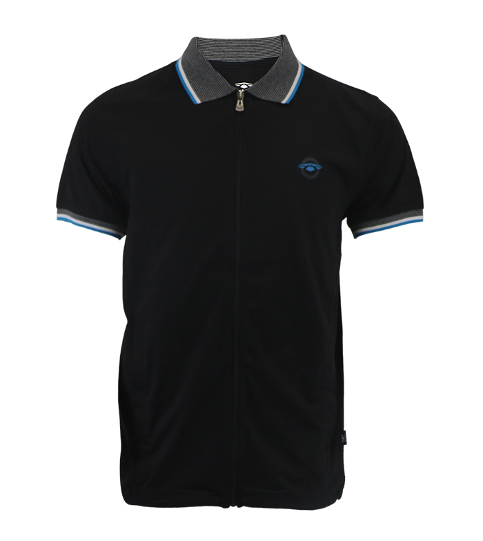 Aleklee black polo AL-5033#