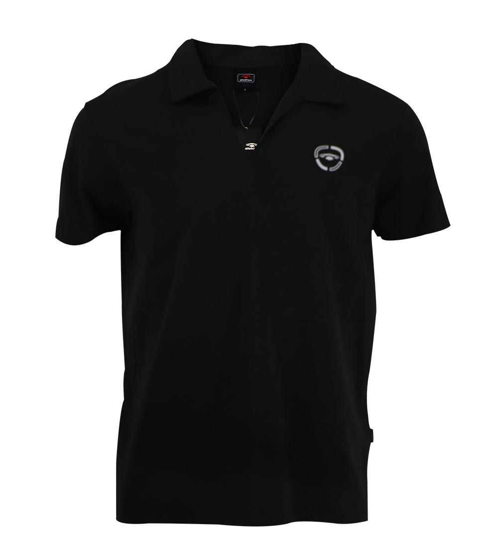 Aleklee loose v-neck polo t-shirt AL-6018#
