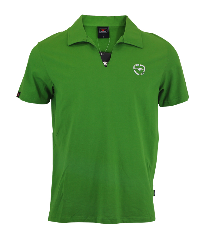 Aleklee loose v-neck polo t-shirt AL-6018#