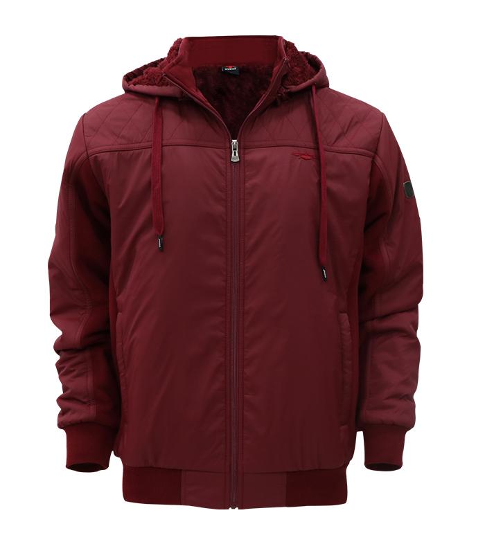 Aleklee polyester&cotton fabric stitching hoodie jacket AL-1956#