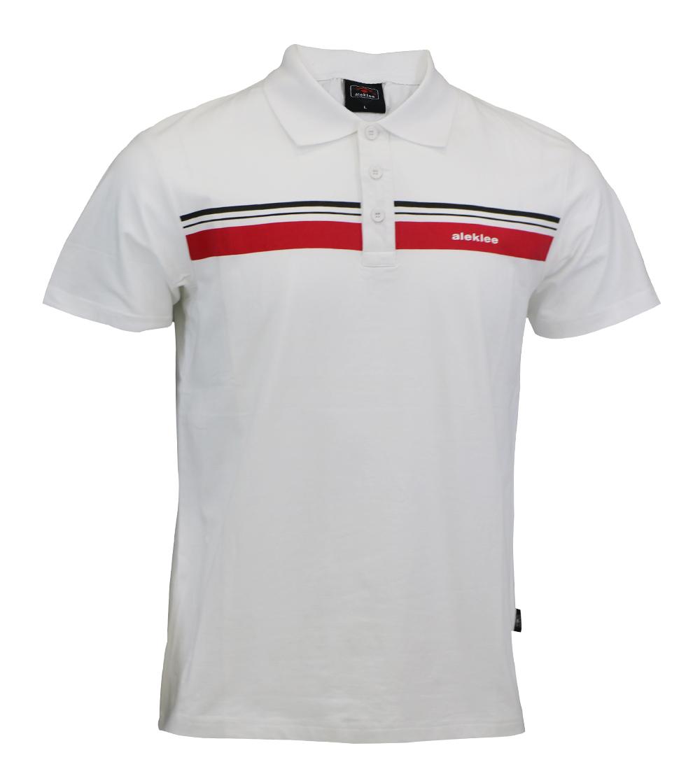 Aleklee stripe block polo t-shirt AL-6016#