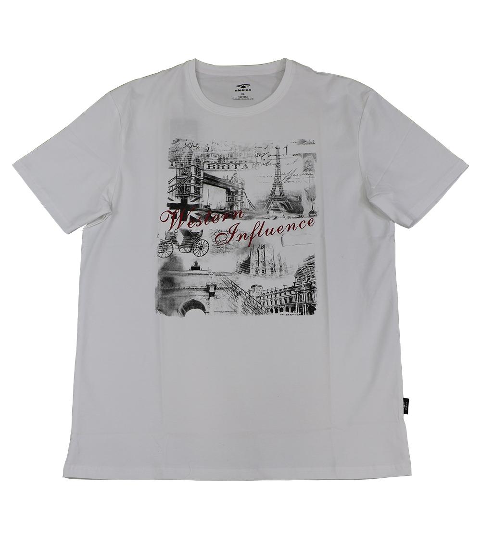 Aleklee eiffel tower paris print  t-shirt AL-6022#