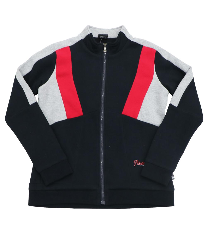Aleklee tri-color stitched hoodie AL-7830#