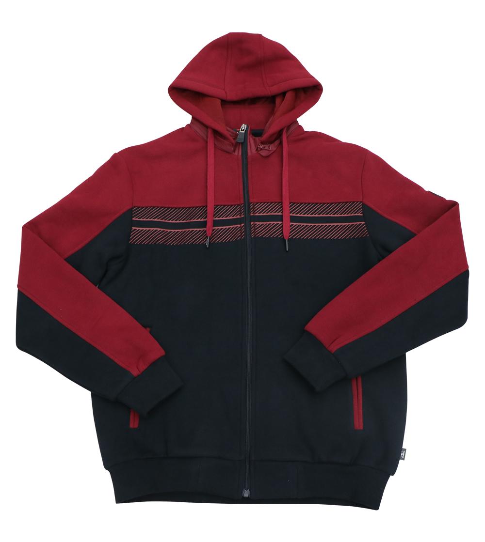 Aleklee two block pannel hoodie jacket AL-7832#