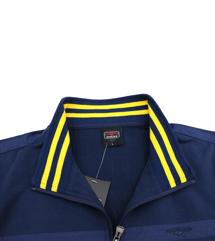 Aleklee Full zip stripe sleeve hoodie sweatshirt AL-7818#