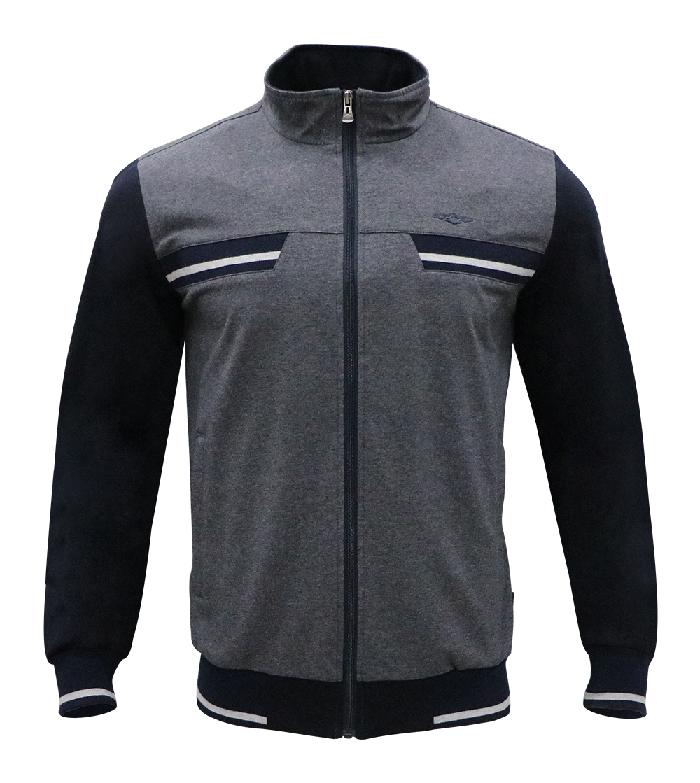 Aleklee two tone long zipper hoodie  AL-7821#