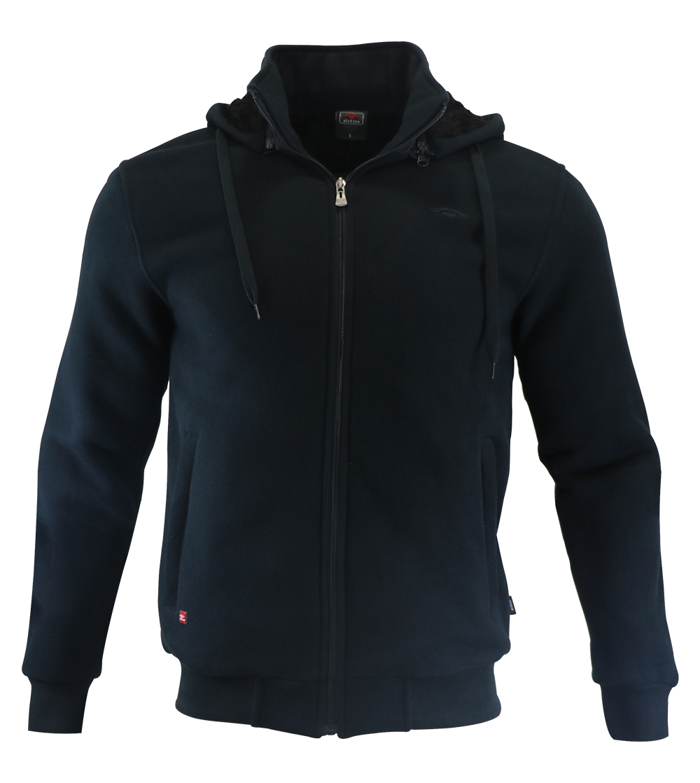Aleklee plain black hoodie jacket AL-1457#