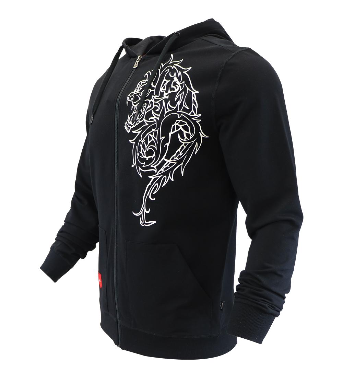 Aleklee dragon print hoodie AL-1871#