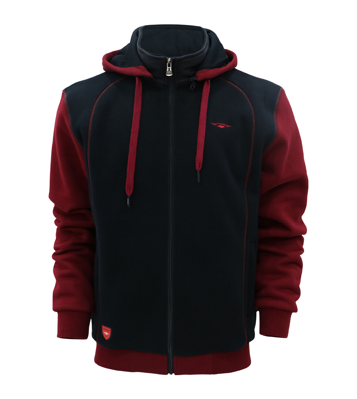 Aleklee colorblock sleeve hoodie jacket AL-1909#