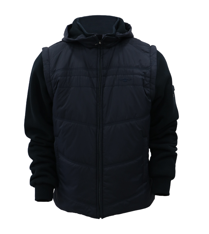 Aleklee cotton-padded hybrid jacket AK-4111#