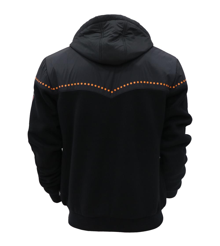 Aleklee symmetry print hybrid jacket AL-7834#